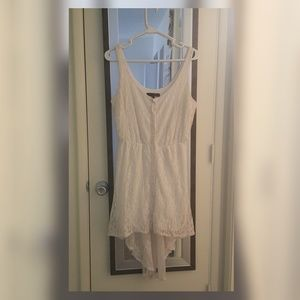 Casual white lacey summer dress